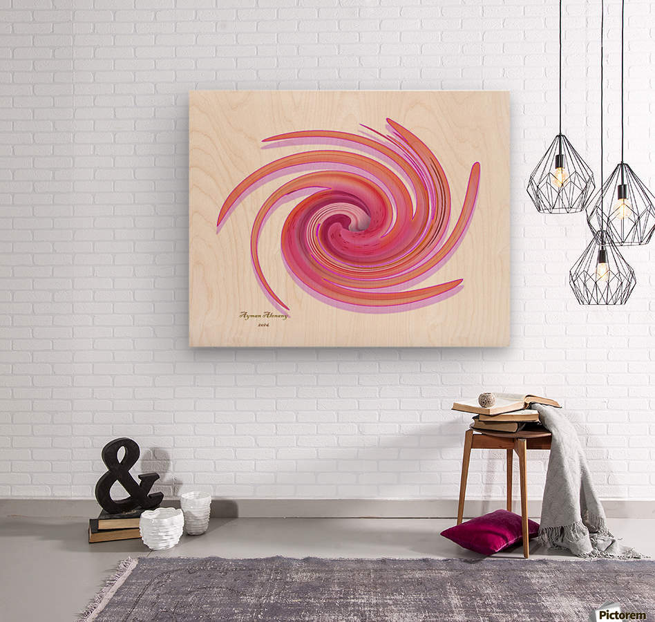 The whirl, W1.3A  Wood print