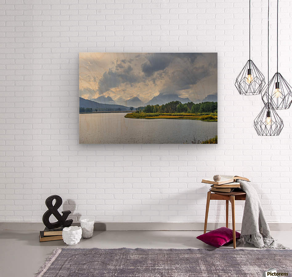 High Country Storm  Wood print