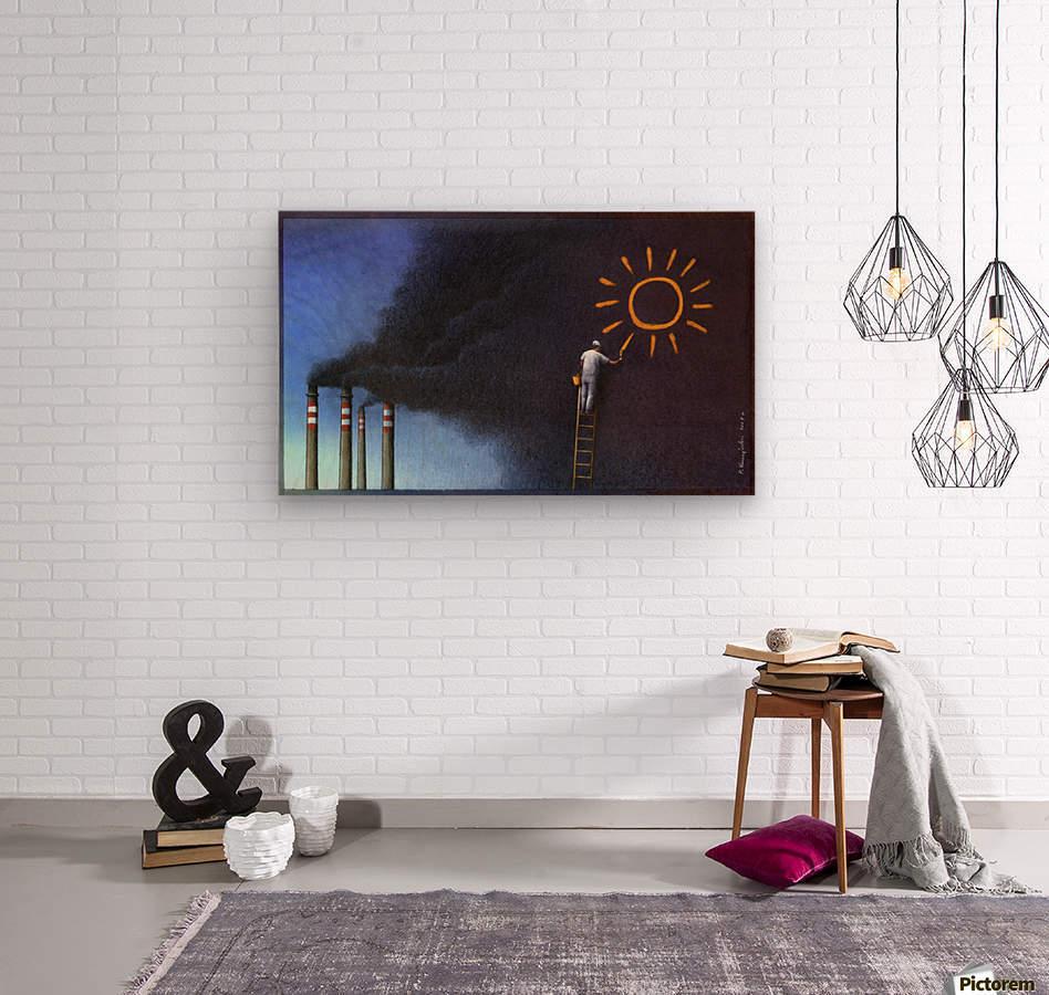Sun  Wood print