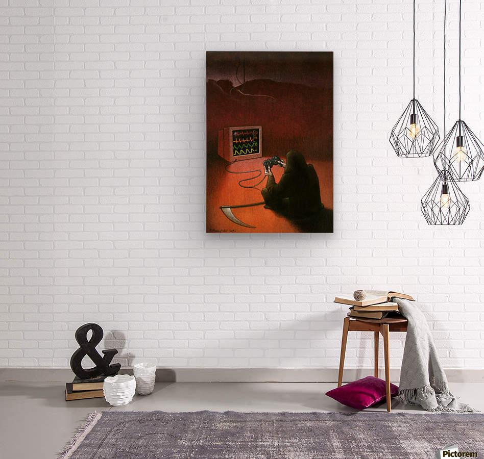 playstation  Wood print