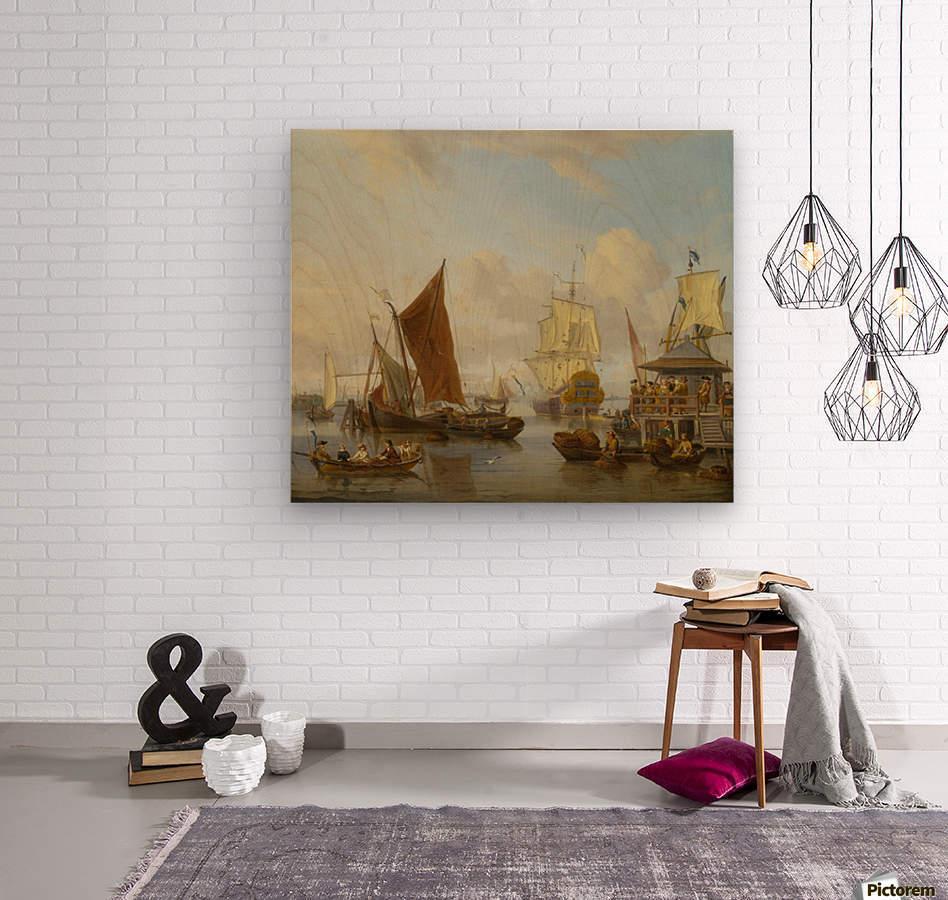 Shipping off Amsterdam  Wood print