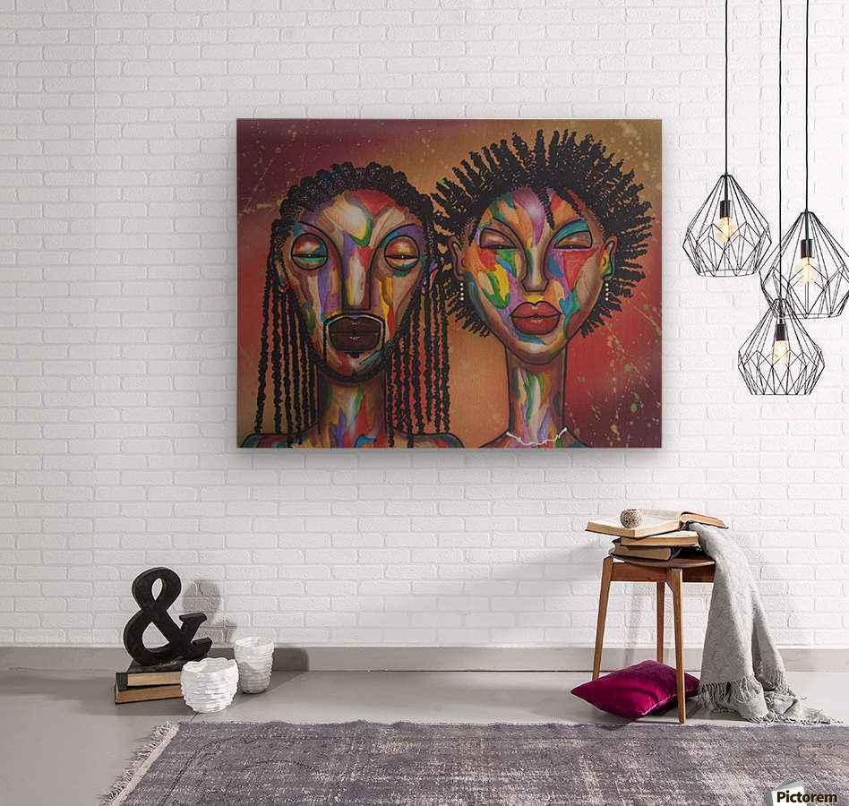 soulmates  Wood print