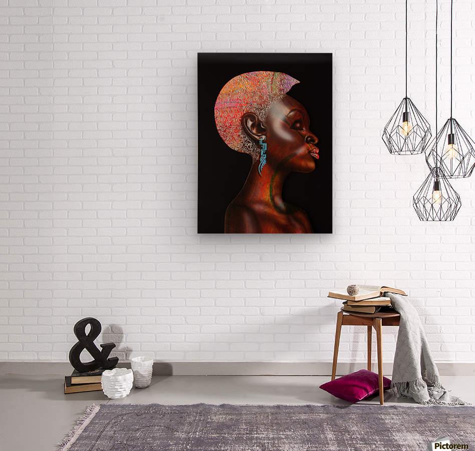 Nzinga  Wood print