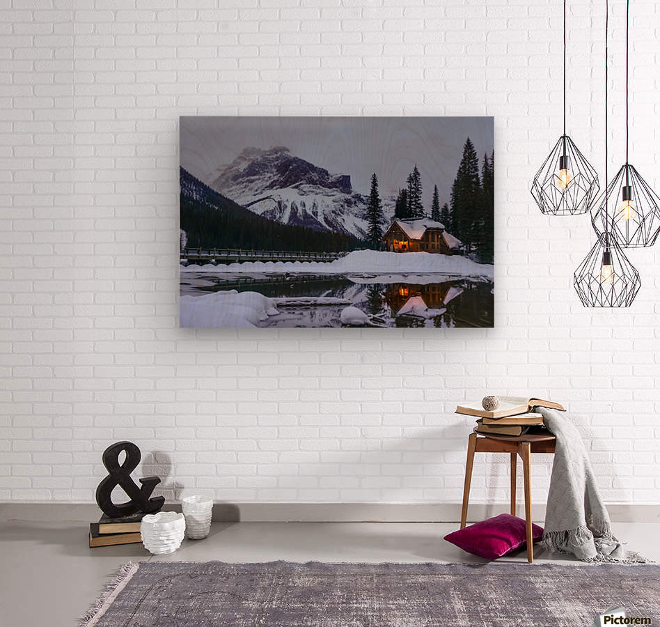 Emerald Lake Lodge  Wood print