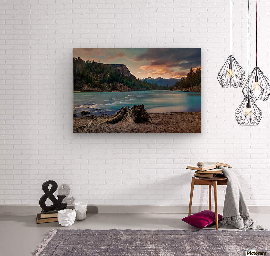 Bow River  Wood print
