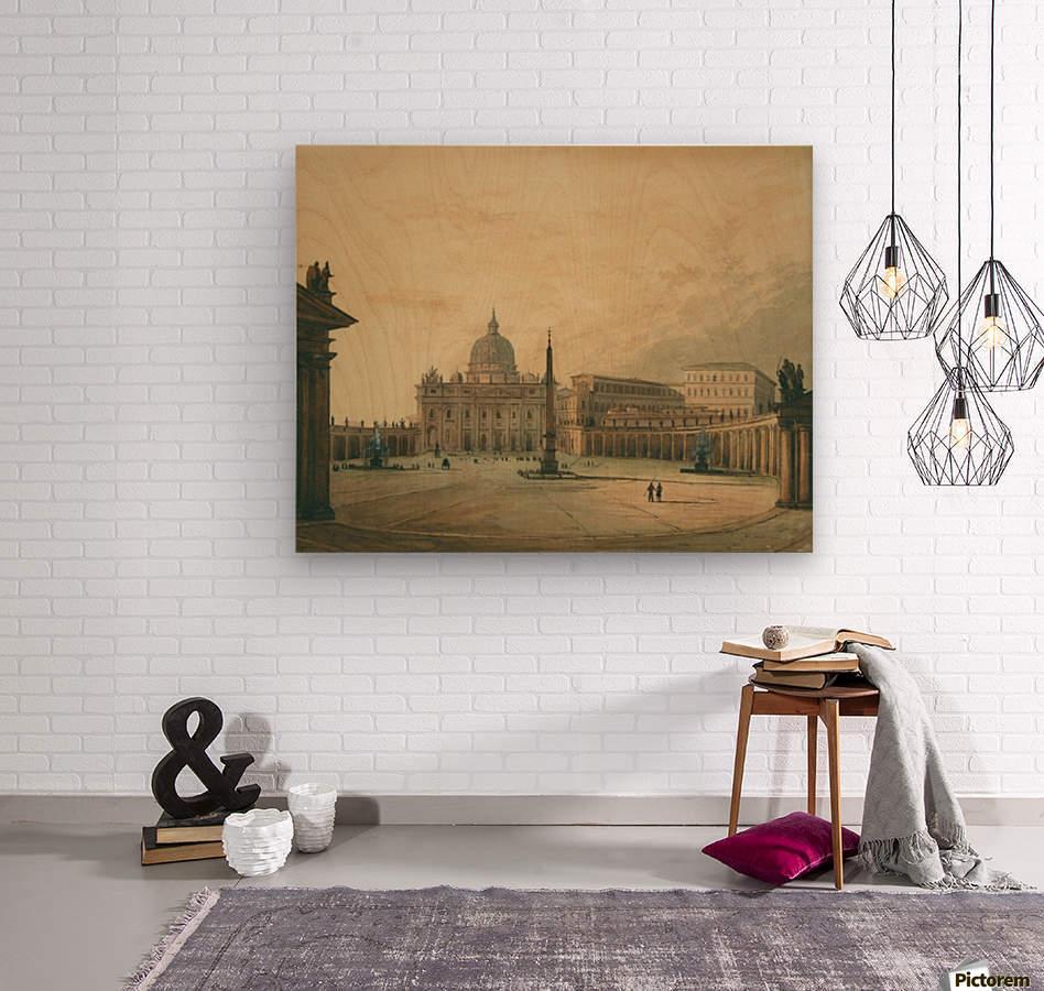 View of Saint Peter Square  Wood print