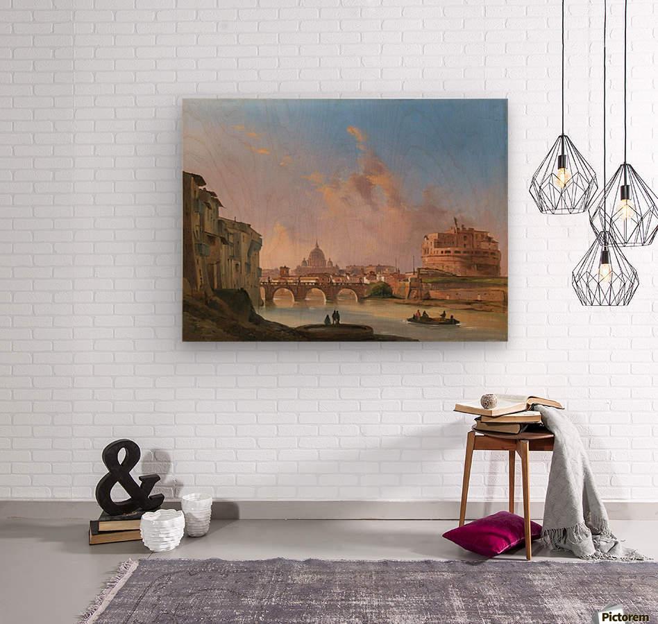 San Pietro e Castel Sant Angelo  Wood print