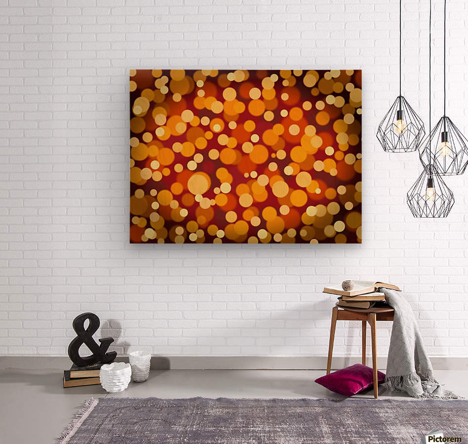 Abstract Background Party Lights Party Lights  Wood print