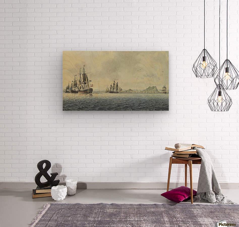 British Fleet off Gibraltar  Wood print