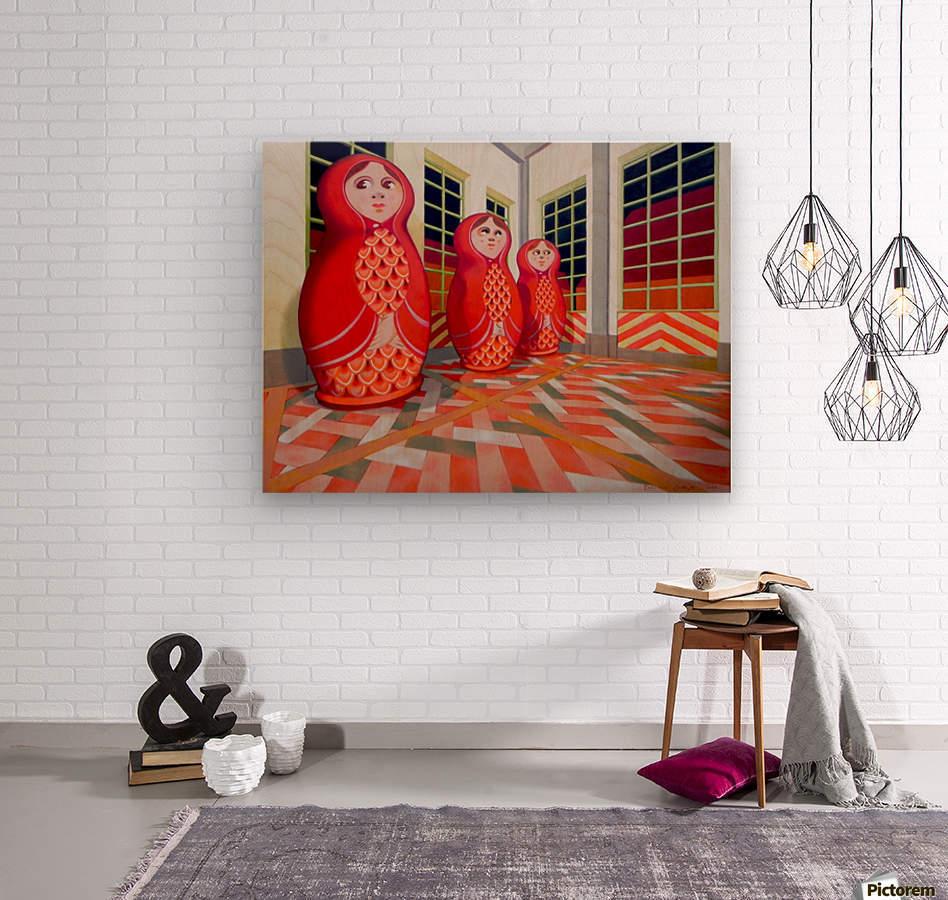 Matryoshka  Wood print