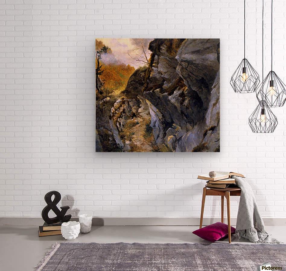 Landscape with cliffs  Wood print