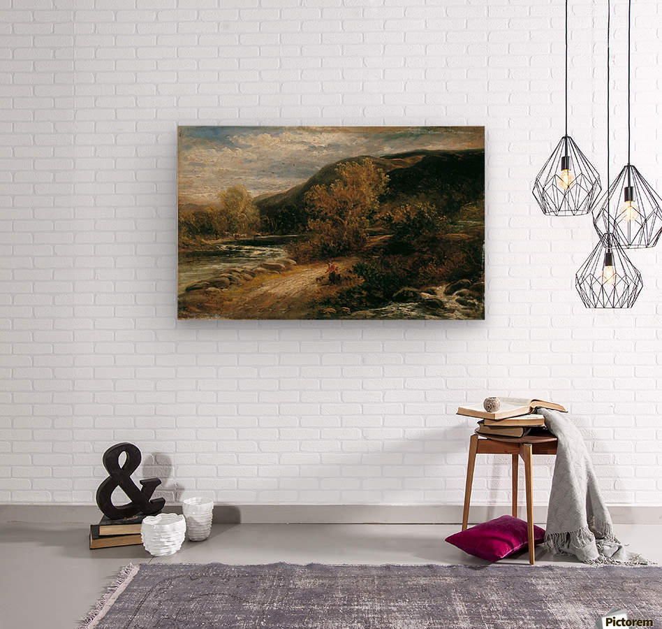 A river from the mountains  Wood print