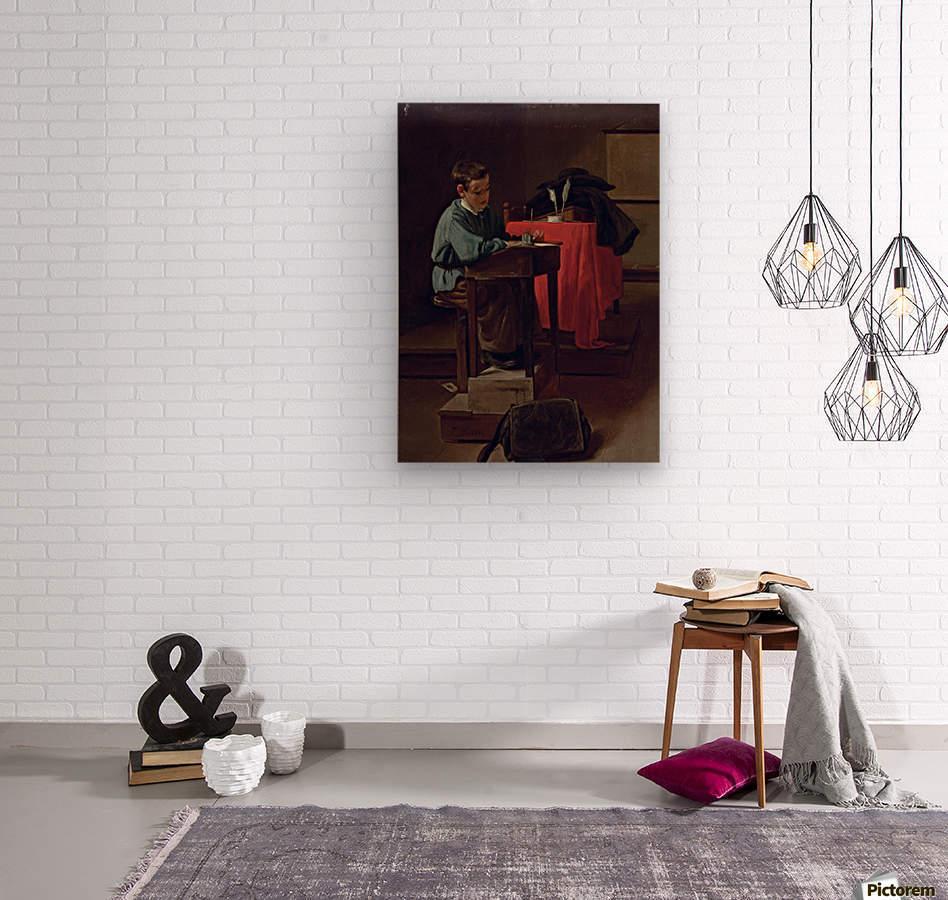 L ecolier  Wood print