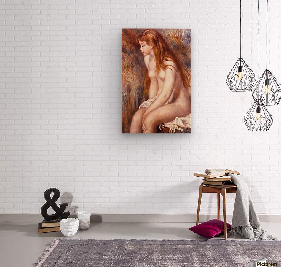 Young Girl Bathing by Renoir  Wood print