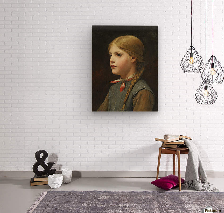A young girl  Wood print