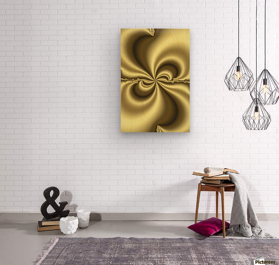 Gold Abstract  Wood print