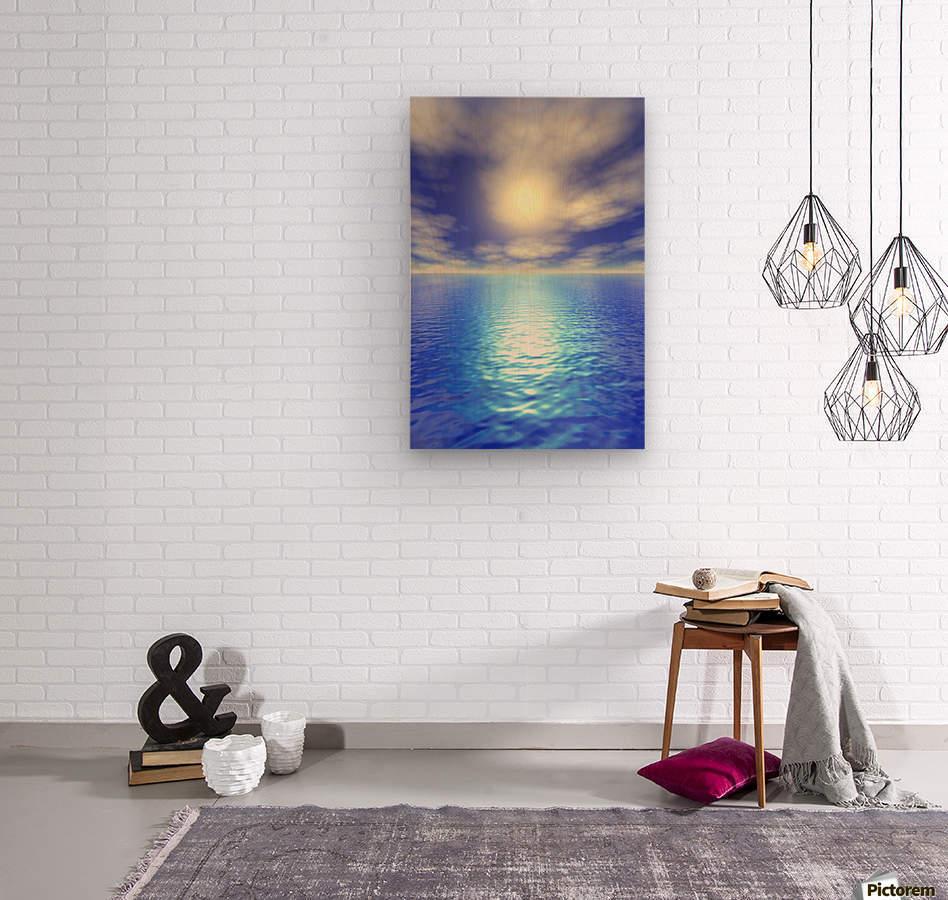 Scenic Ocean View  Wood print