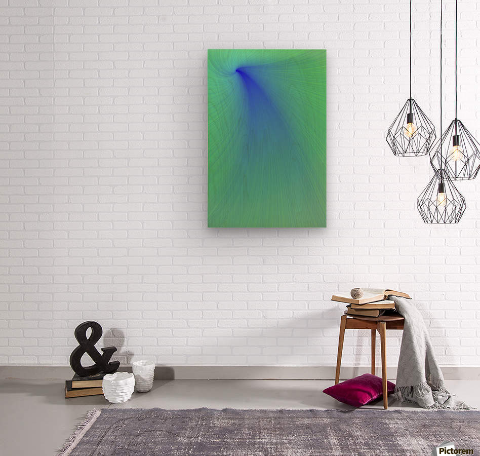 Blue And Green Abstract  Wood print