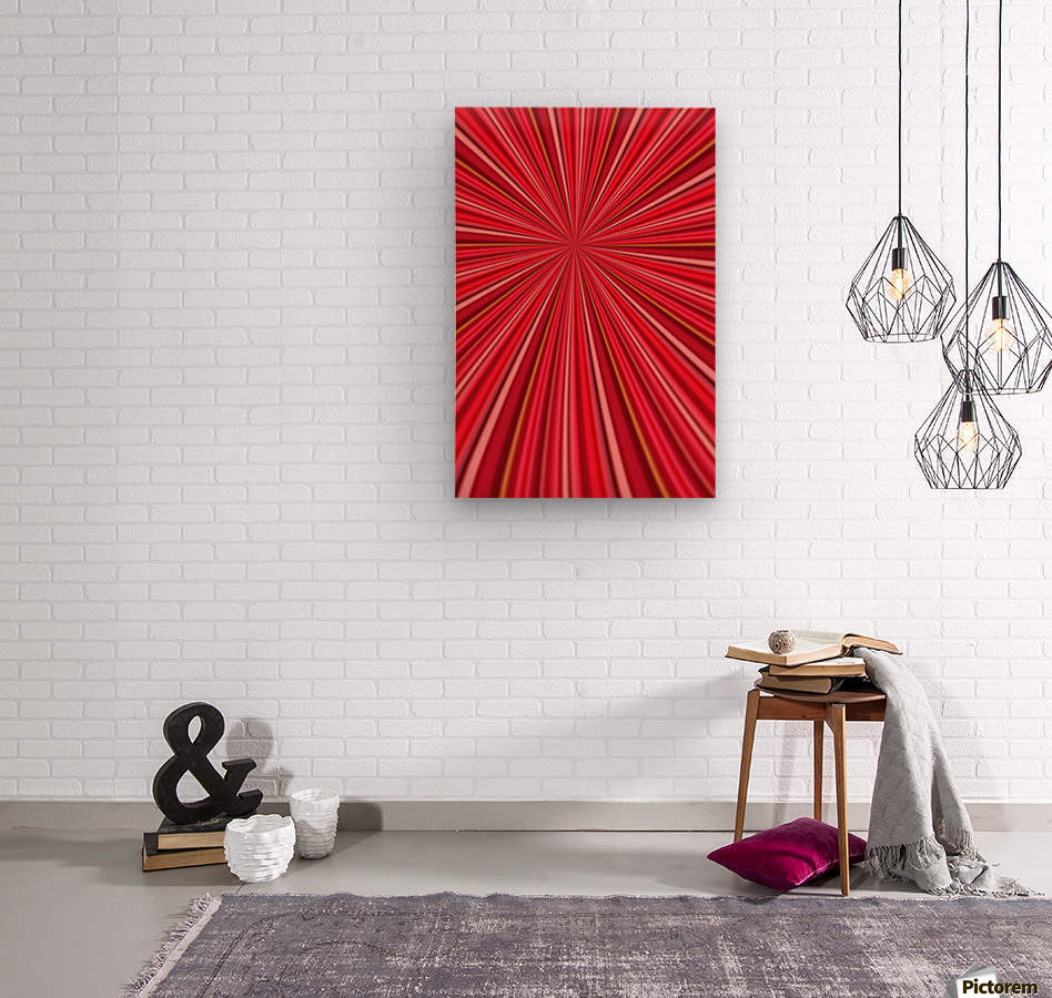 Pink Abstract Design  Wood print