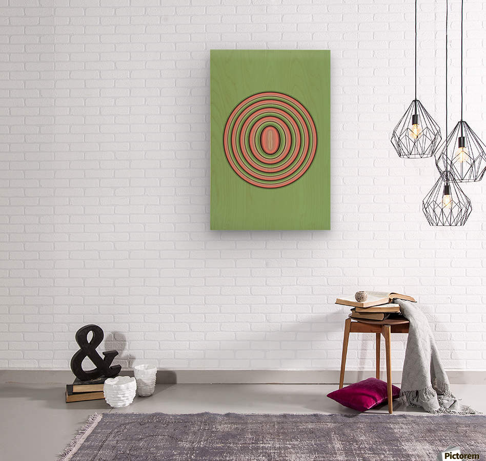 Concentric Circles  Wood print