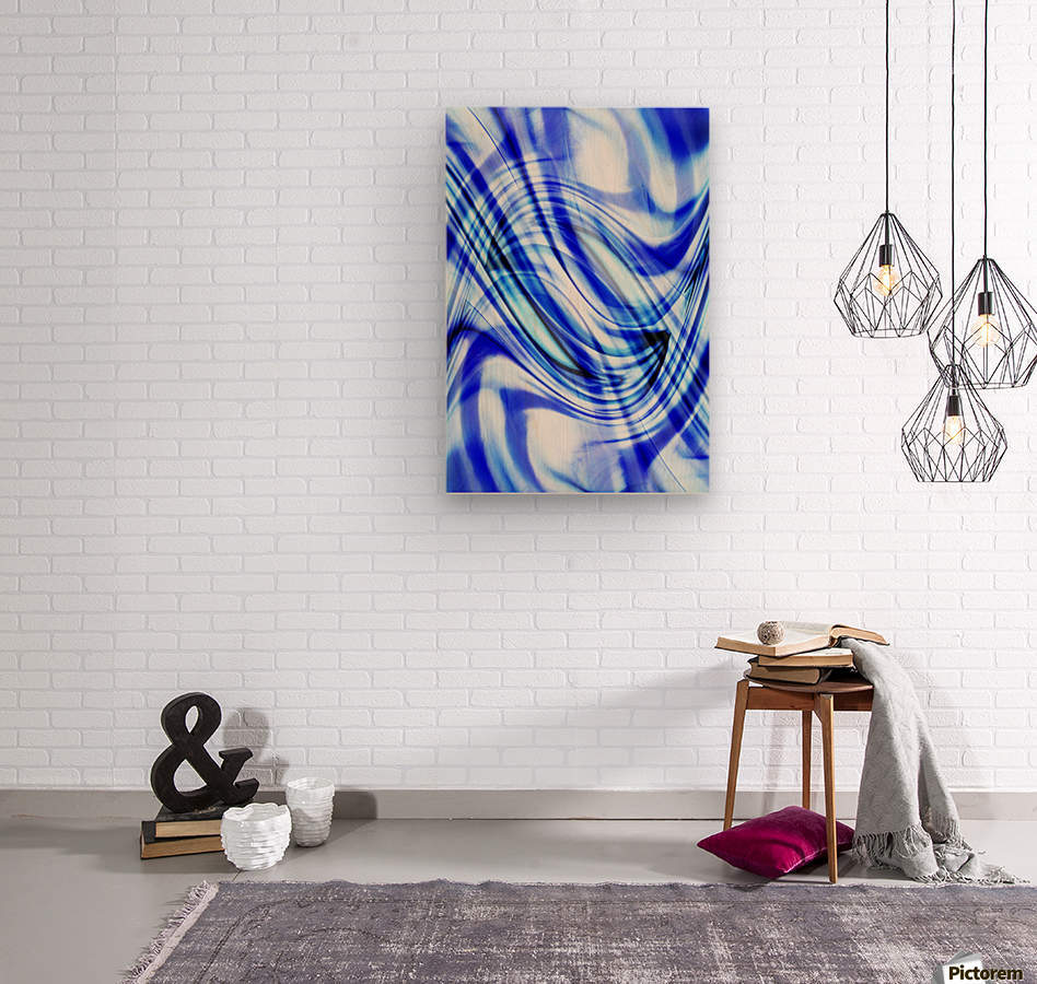 Swirling Abstract  Wood print