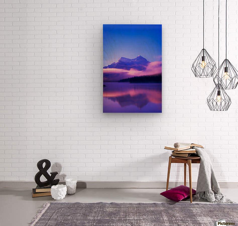 Maligne Lake, Jasper National Park, Alberta, Canada  Wood print