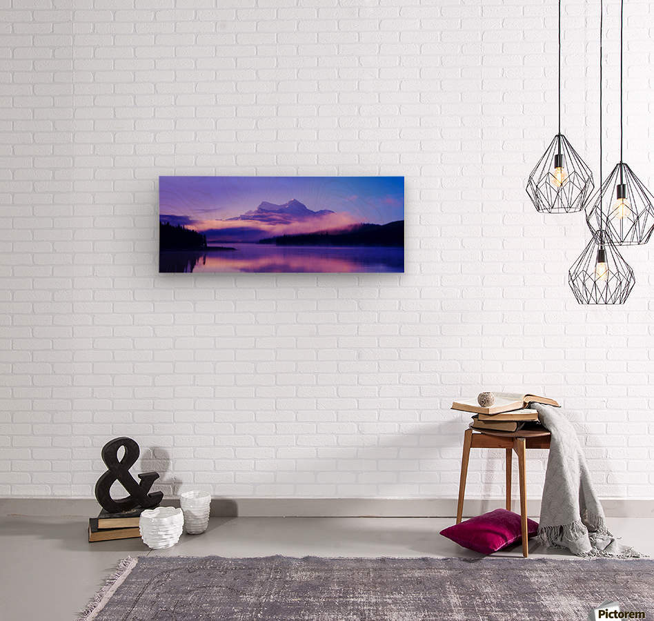 Beautiful Mountain Scenery  Wood print