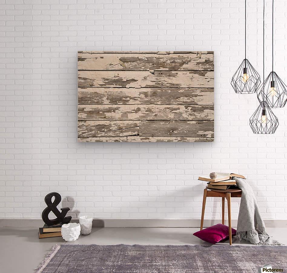 Paint Peeling Off Wood  Wood print
