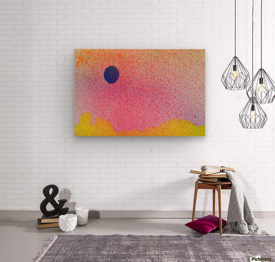 Colourful Abstract Background  Wood print
