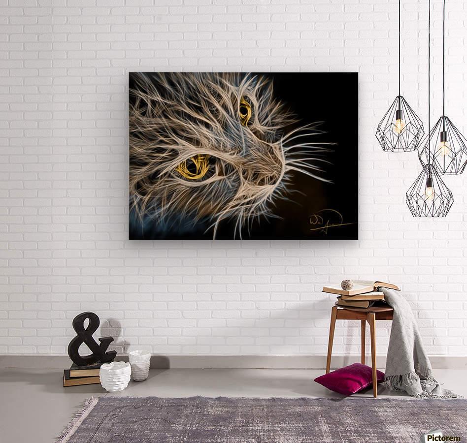 Cat Abstracto  Wood print