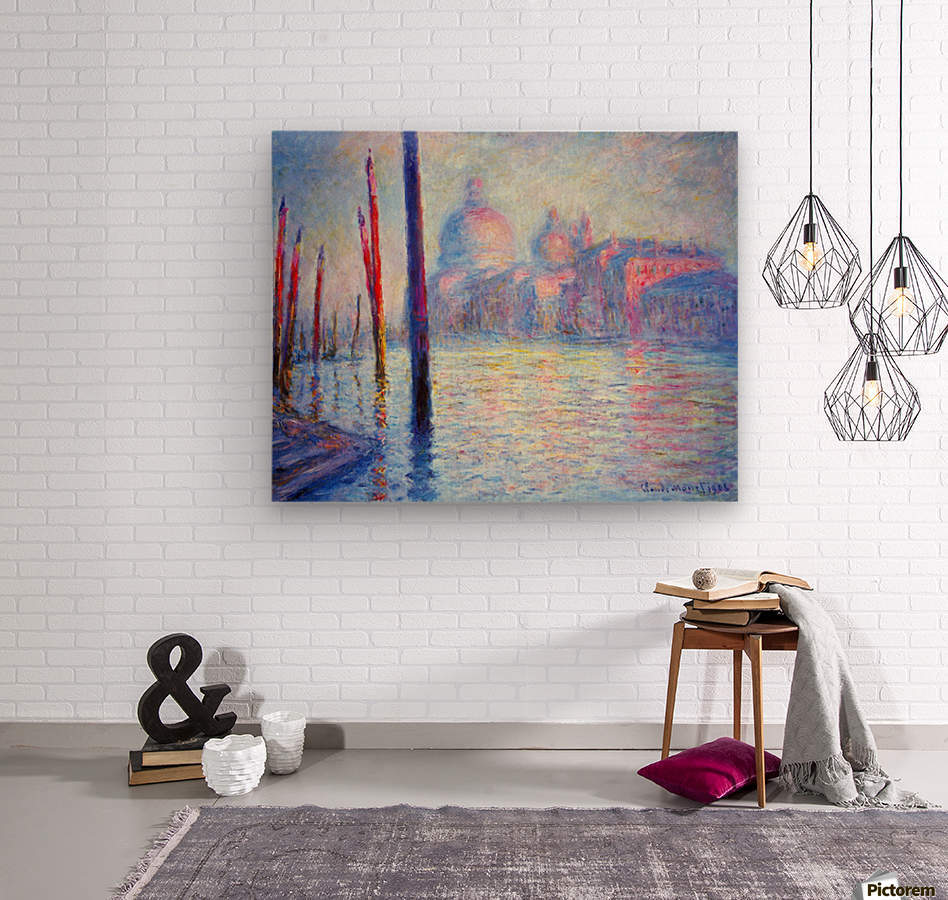 Canal Grand by Monet  Wood print