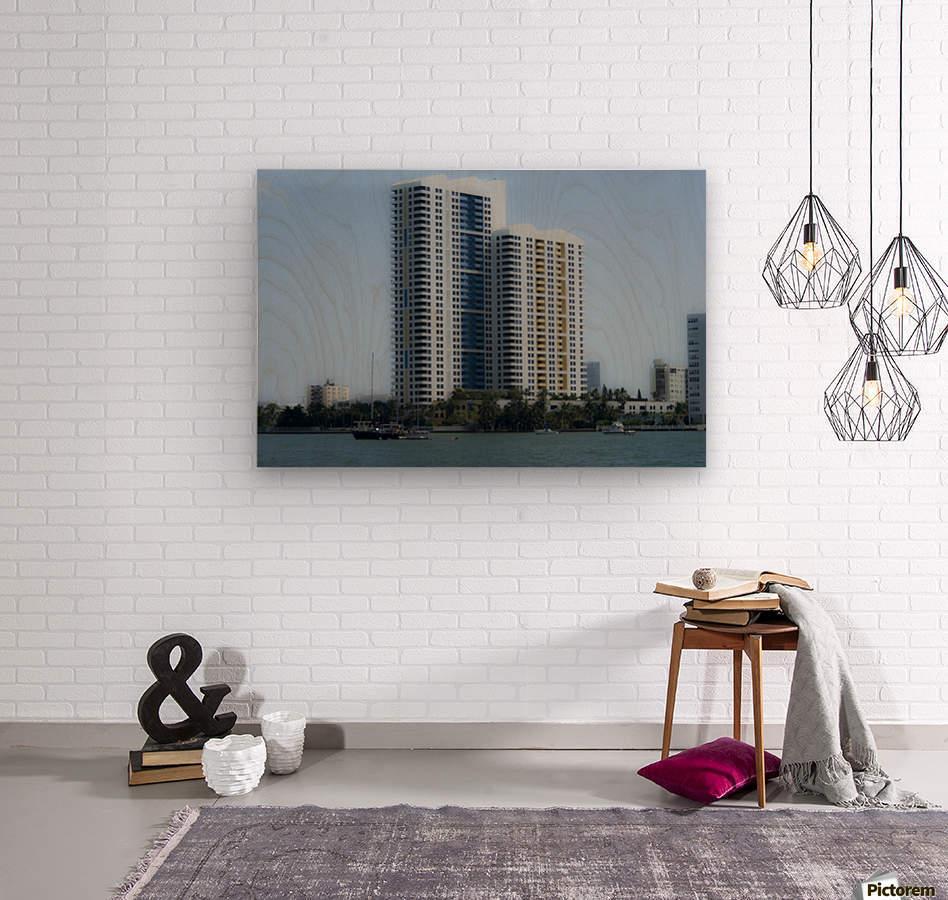 Miami Beach Buildings  Wood print