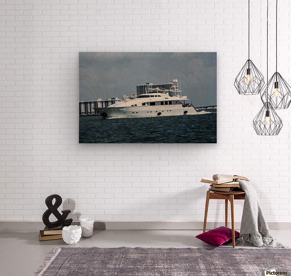 Yacht  Wood print