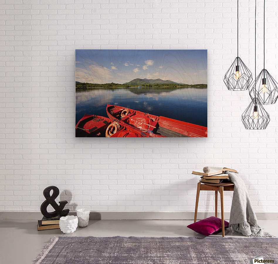 Killarney, County Kerry, Munster, Ireland; Two Boats In The Water  Wood print