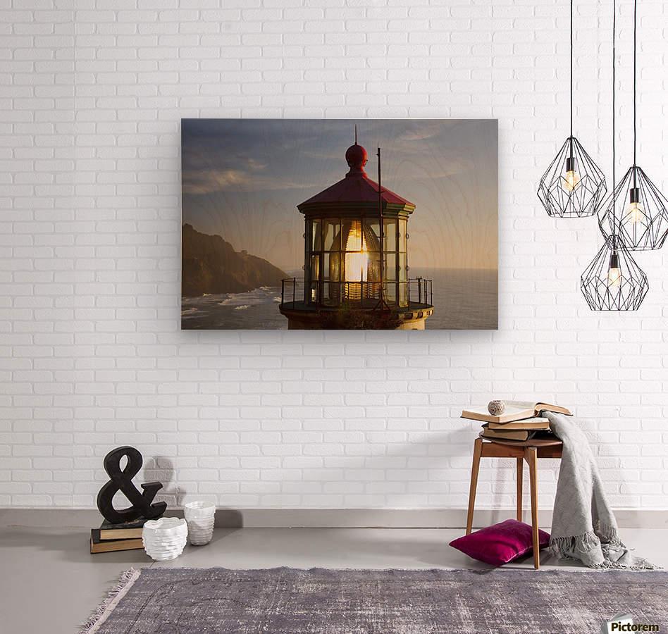 Heceta Head Lighthouse Along The Oregon Coast; Florence, Oregon, United States Of America  Wood print