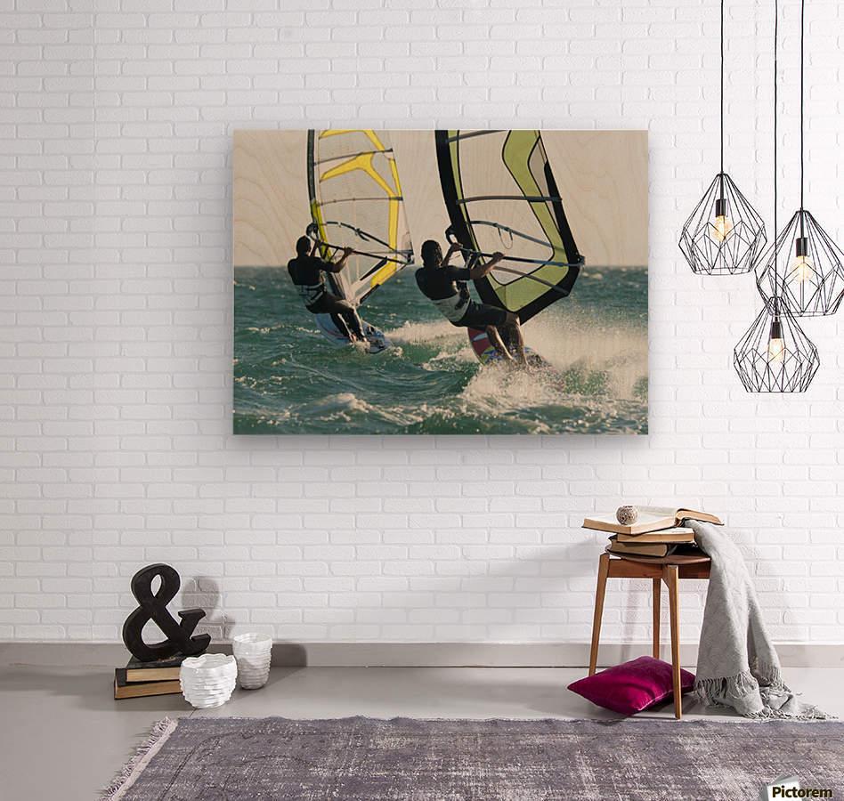 Windsurfing; Tarifa, Cadiz, Andalusia, Spain  Wood print
