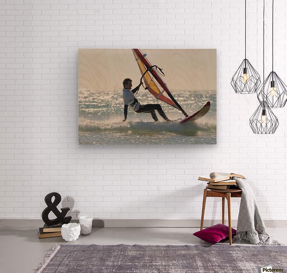 Windsurfing; Los Lances Beach Tarifa Spain  Wood print