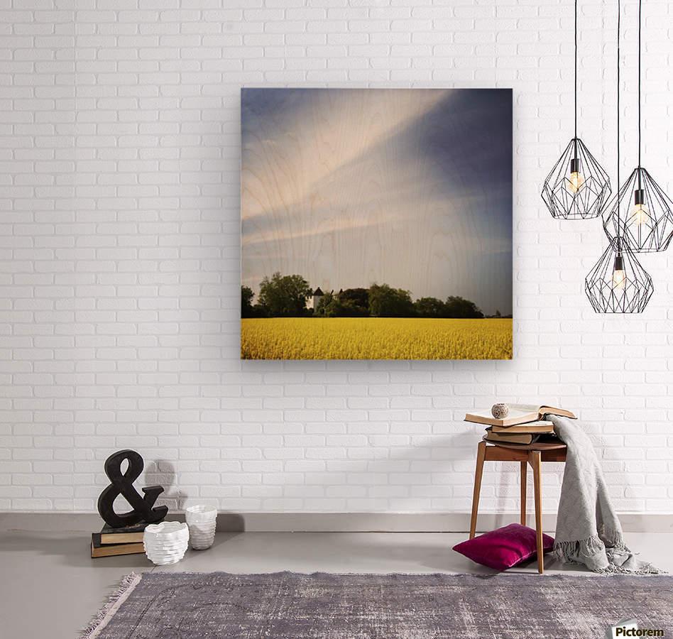 Scania sky  Wood print