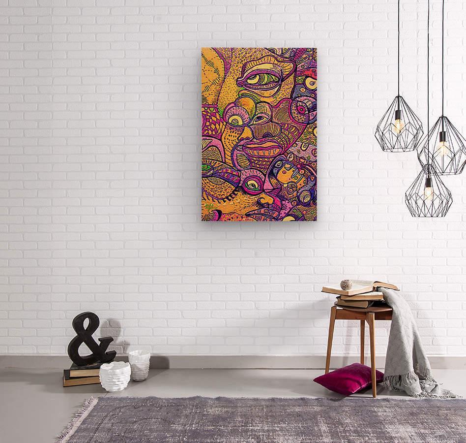 Loba  Wood print
