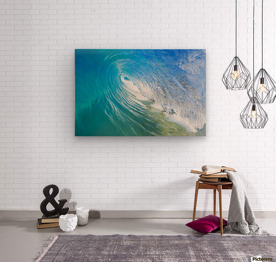 Blue Ocean Wave  Wood print