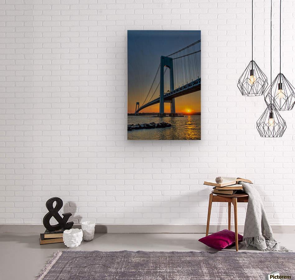 Verrazano narrows bridge at sunset brooklyn new york united verrazano narrows bridge at sunset brooklyn new york united states of america ppazfo