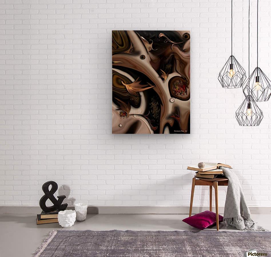 Juxtaposed Nature I  Wood print