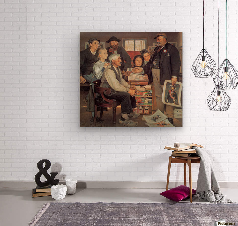 A large family  Wood print