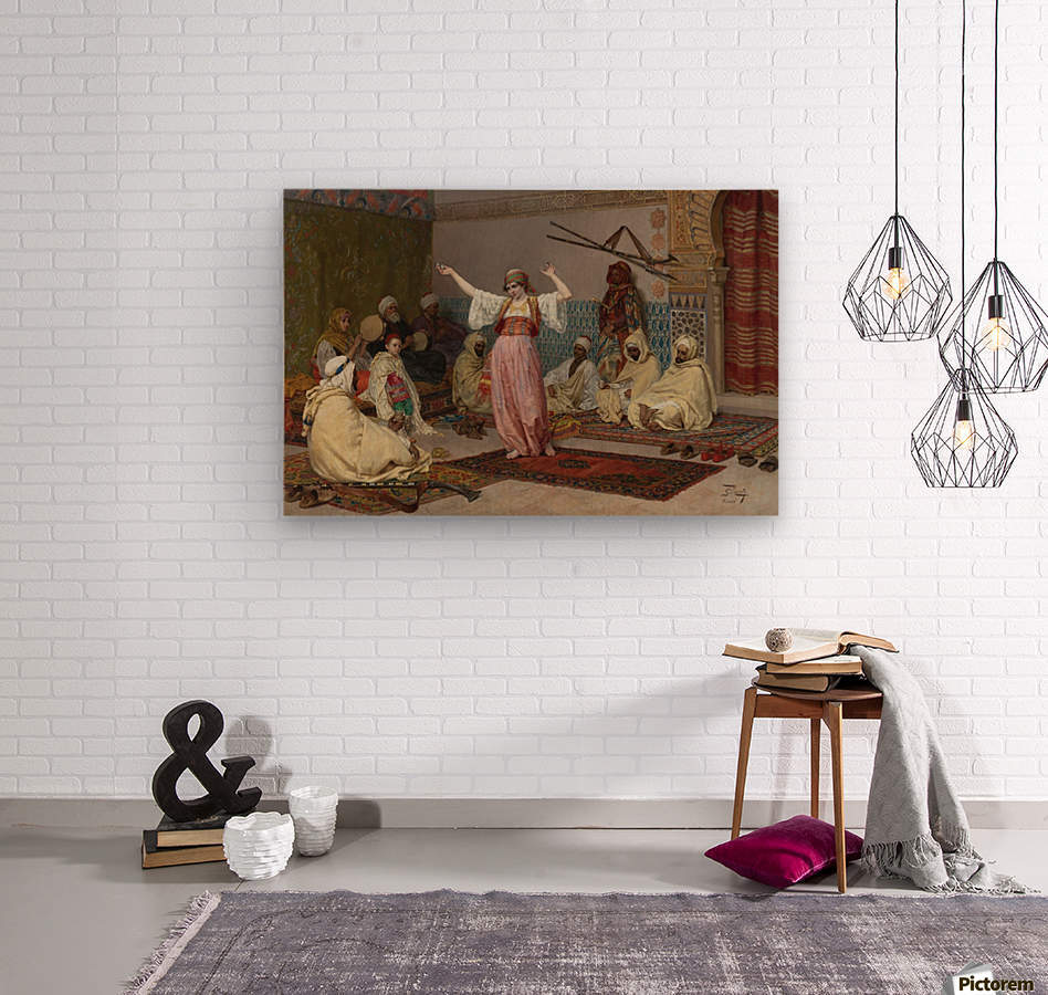Oriental dance  Wood print