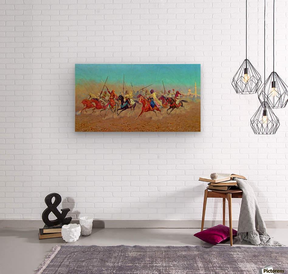 Charging Horsemen  Wood print