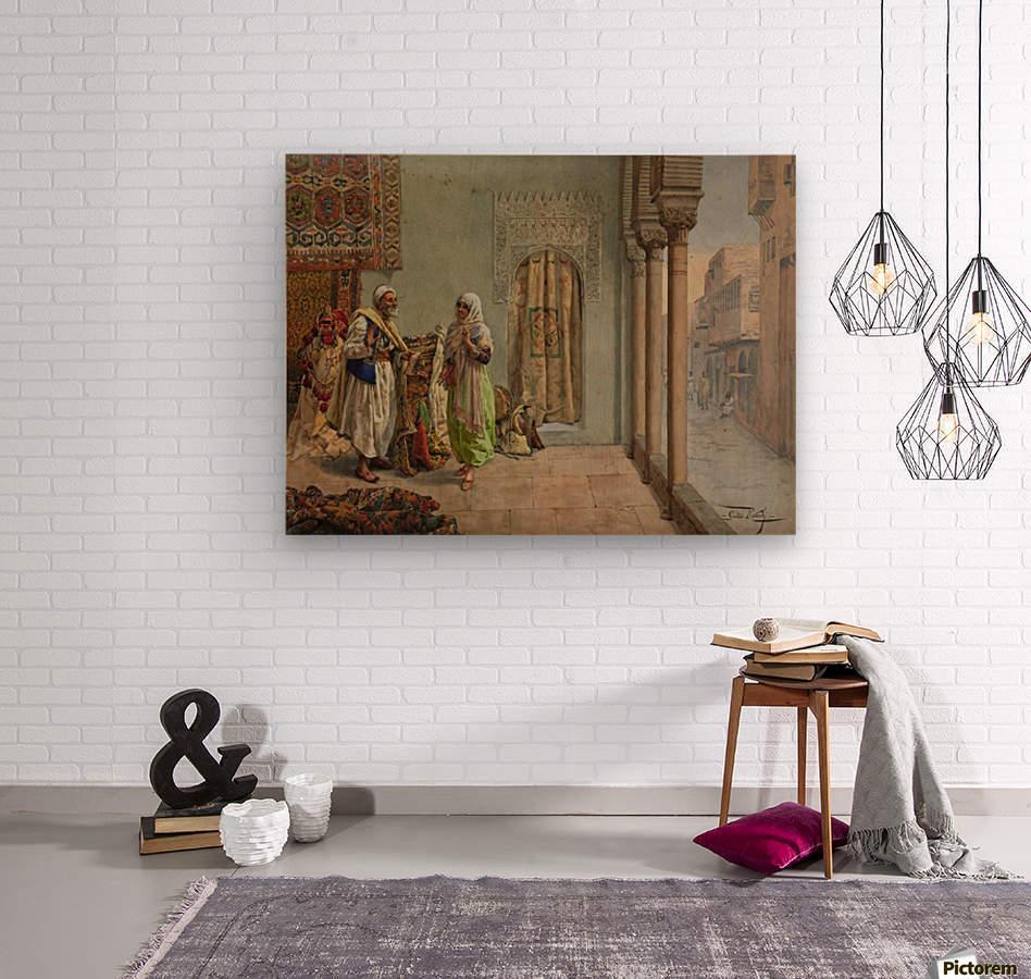 An Oriental Bazaar  Wood print