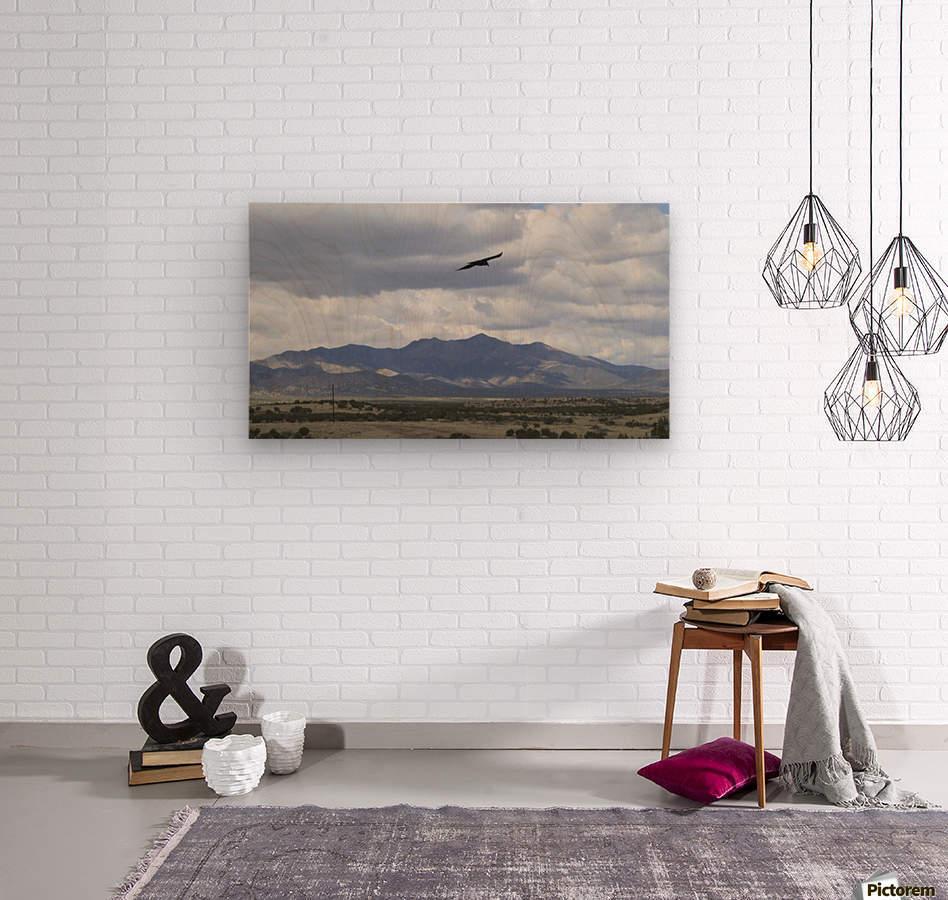 Mountains overlooking Highway 1  VP2  Wood print