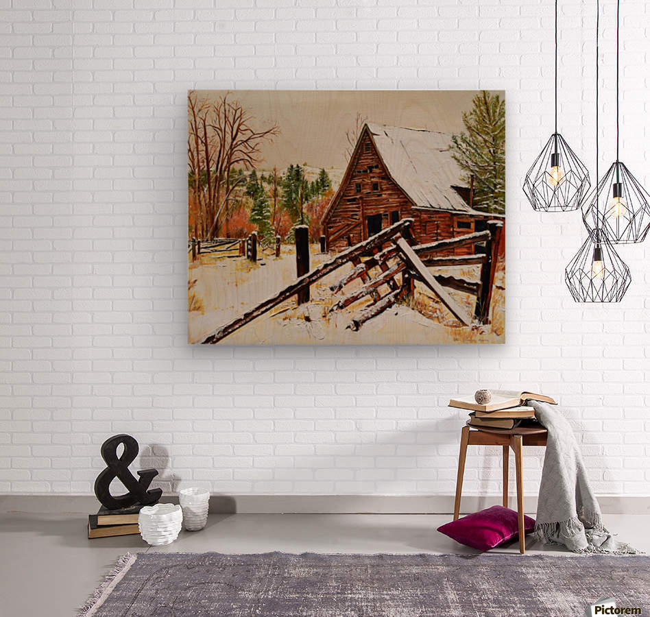Strong Timbers - A Barn in Nevada  Wood print