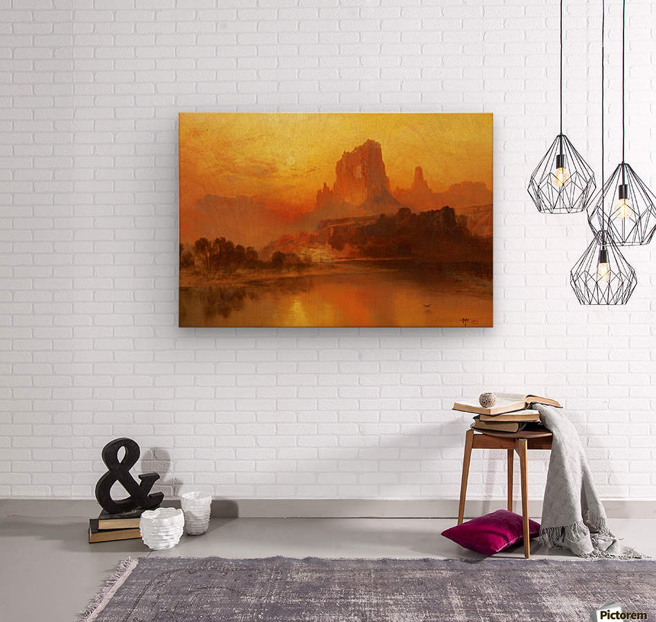 The golden hour  Wood print