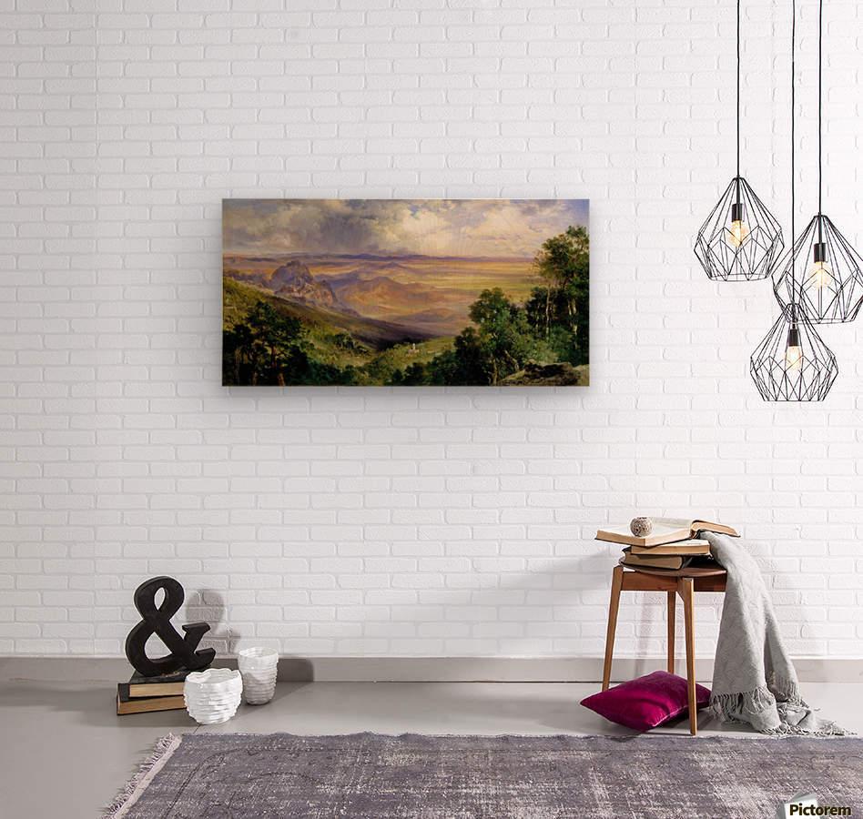 Valley of Cuernavaca  Wood print